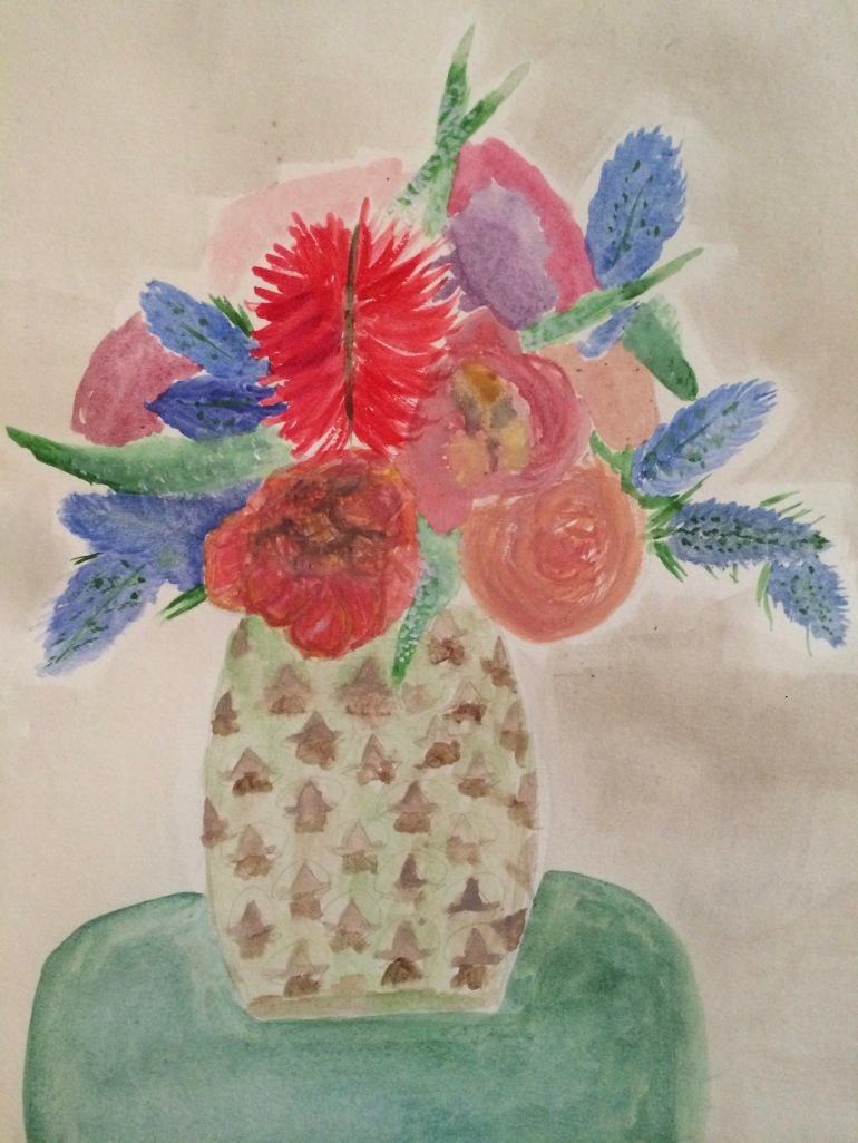 Bouquet in Pineapple Vase